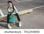 11 12 years old tween girl... | Shutterstock . vector #701244850