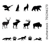 Forest Animals Silhouettes  ...