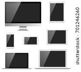 electronic devices set   7... | Shutterstock .eps vector #701246260