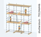 multi level scaffolding with... | Shutterstock .eps vector #701246446