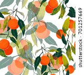 imprints subtropical ripe juicy ... | Shutterstock . vector #701257669