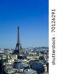 eiffel tower of paris | Shutterstock . vector #70126291