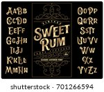 classic vintage decorative font ... | Shutterstock .eps vector #701266594