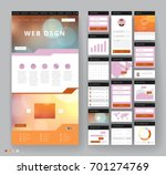 website template design with... | Shutterstock .eps vector #701274769