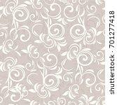 seamless damask pattern in... | Shutterstock .eps vector #701277418