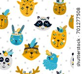 vector seamless pattern with... | Shutterstock .eps vector #701277508