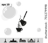 turkish coffee illustration.... | Shutterstock .eps vector #701279998