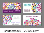 embroidery style colorful... | Shutterstock .eps vector #701281294