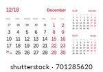 wall quarter calendar 2018.... | Shutterstock .eps vector #701285620