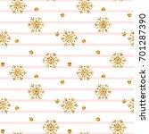 christmas gold snowflake...   Shutterstock .eps vector #701287390