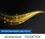 light line gold effect of bokeh ... | Shutterstock .eps vector #701287924