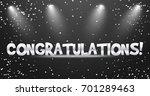 congratulations vector banner...   Shutterstock .eps vector #701289463