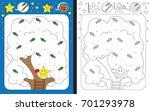 preschool worksheet for... | Shutterstock .eps vector #701293978