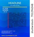 blue curve line flyer vector... | Shutterstock .eps vector #701296348