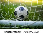 classic vintage soccer ball in... | Shutterstock . vector #701297860