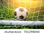 classic vintage soccer ball in... | Shutterstock . vector #701298040