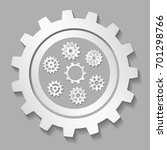 set of mechanical gears with a... | Shutterstock .eps vector #701298766