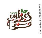 cake stylized symbol  logo... | Shutterstock .eps vector #701302693