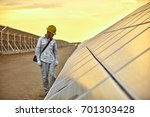 in the evening of the solar... | Shutterstock . vector #701303428