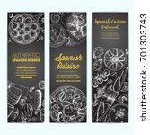 spanish cuisine banner... | Shutterstock .eps vector #701303743