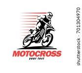 motocross stylized vector... | Shutterstock .eps vector #701304970
