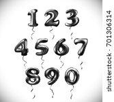 vector black number 1  2  3  4  ... | Shutterstock .eps vector #701306314