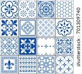 portuguese tiles pattern ... | Shutterstock .eps vector #701309740