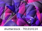 abstract mauve polygon... | Shutterstock . vector #701314114