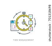 time management concept... | Shutterstock .eps vector #701318698
