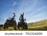 beautiful couple is watching... | Shutterstock . vector #701326000