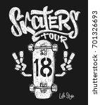 skateboard graphic t shirt... | Shutterstock .eps vector #701326693
