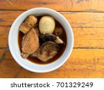 stewed pork with herb  egg and... | Shutterstock . vector #701329249