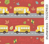 back to school seamless pattern ... | Shutterstock .eps vector #701329810