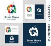 editable business card template ... | Shutterstock .eps vector #701331550