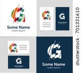 editable business card template ... | Shutterstock .eps vector #701331610