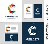 editable business card template ... | Shutterstock .eps vector #701331679