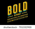 vector of bold modern font and... | Shutterstock .eps vector #701332900