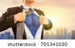 businessman in superhero...   Shutterstock . vector #701341030