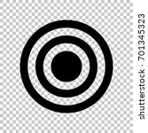target icon. vector. flat style ... | Shutterstock .eps vector #701345323