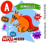 super big set. cute vector zoo... | Shutterstock .eps vector #701349250