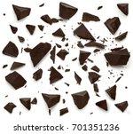 cracked chocolates   broken... | Shutterstock . vector #701351236