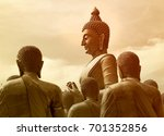 buddha sculpture in buddhism... | Shutterstock . vector #701352856