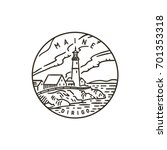 vintage vector round label....   Shutterstock .eps vector #701353318
