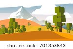 cartoon countryside. | Shutterstock . vector #701353843