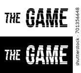 the game logo  vector | Shutterstock .eps vector #701356648