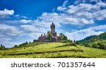 valley of moselle in germany  ... | Shutterstock . vector #701357644