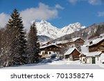Alpine Village In Winter