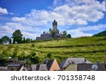 valley of moselle in germany  ... | Shutterstock . vector #701358748