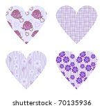 vector vintage hearts with... | Shutterstock .eps vector #70135936