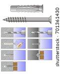 universal plug installation... | Shutterstock .eps vector #701361430